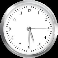 A clock at 5:30.